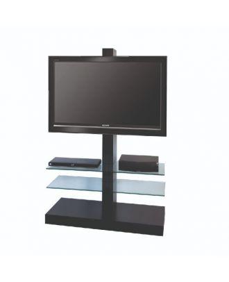 Pied tour avec tablette encadrant écran 32-55 pouces blanc OMB-0.51