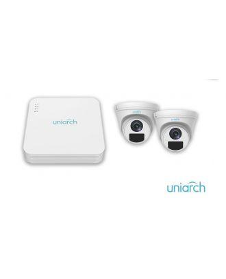 Caméra Dôme UNV Uniarch 4CH IP Kit 5MP NVR 2 x 1080P IC Plus