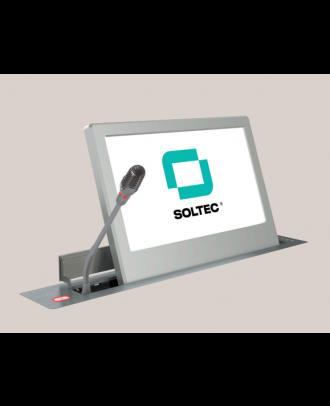 Ecran motorisé Soltec 18,5'' 1366*786 - Cadre alu. bords bis. + Mic