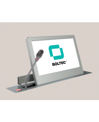 Ecran motorisé Soltec 18,5'' 1366*768 + Vitre de protection + Micro