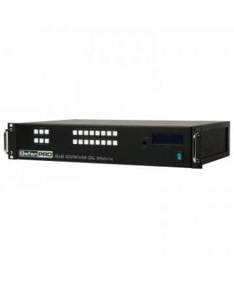 Matrice 8x8 DVI KVM Dual Link, USB, audio, avec panneau contrôle