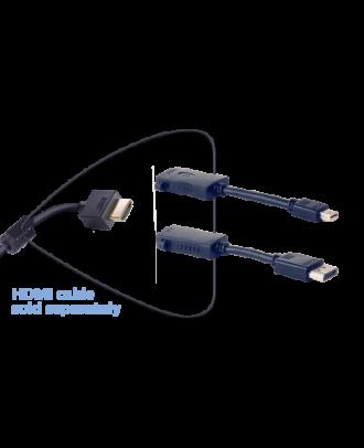 HDMI femelle vers DP 4K/mini DP 4K mâle - 12,5cm
