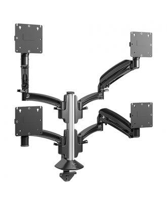 Chief - Support bureau colonne K1C 4x1, extension 648 mm, noir