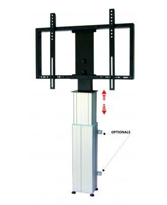 omb - Colonne murale électrique maxi 46 à 90p VESA 800*400 - Argent