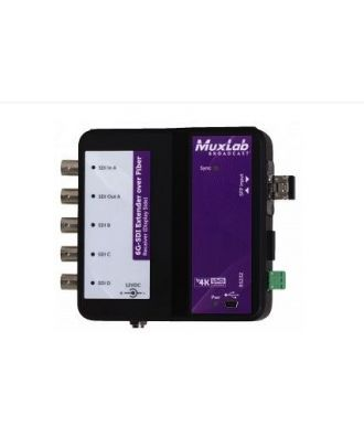 Extendeur sur fibre optique 6G-SDI avec canal de retour