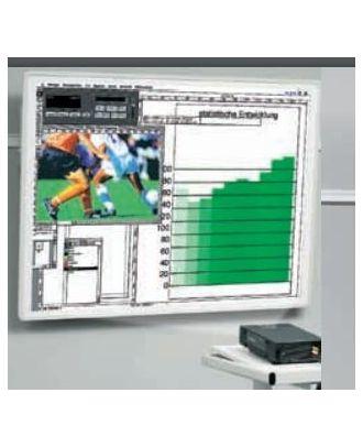 Tableau sur rail de projection 150x150cm, inclinable/orientable, gris