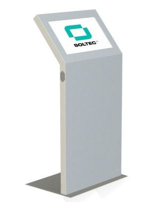Borne Soltec 15'' Kiosk, Clavier IP65, Intel Atom 1,83GHz, 2GB
