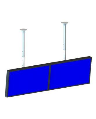 omb - Support de plafond pour double écrans 1x2 60p max- 50kg max - N