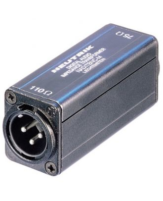 Transformateurs d'impédance AES/EBU embase mâle