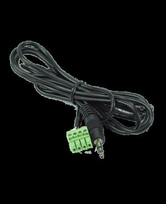 tvONE - Cable Audio Stereo Jack 3,5mm M vers Phoenix 4-pin - 3m