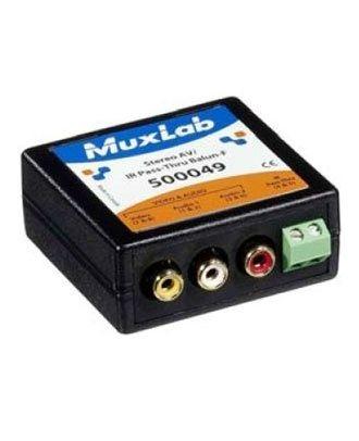500049 Balun Muxlab Pass-Thru AV-IR Stéréo Femelle