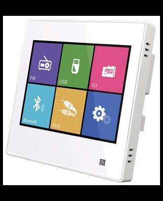 Majorcom - Platine multimedia murale - USB - µsd - bt - 2x10w