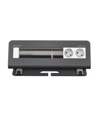 FR - CablePort desk² 6M avec 2 alims et 4 modules vide (RAL 7015)