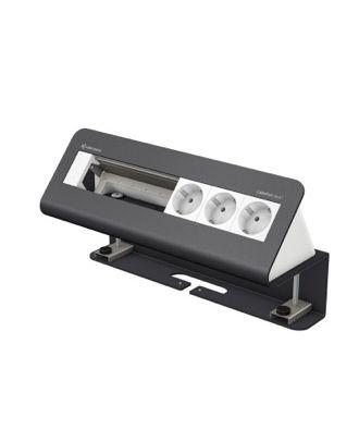 FR - CablePort desk² 6M avec 3 alims et 3 modules vide (RAL 7015)