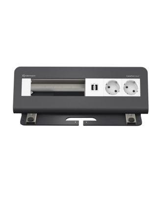 FR - CablePort desk² 6M, 2 alims, 2 USB, 3 modules vide (RAL7015)