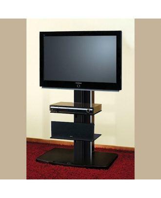 Meuble TV Hubertus ALLADYN pour écran LCD, Plasma. Noir & Argent