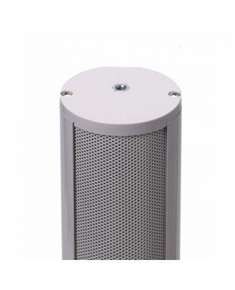 Colonne alu tube laqué blanc - 16 HP x 5 cm - 80/40 Watts / 100 V