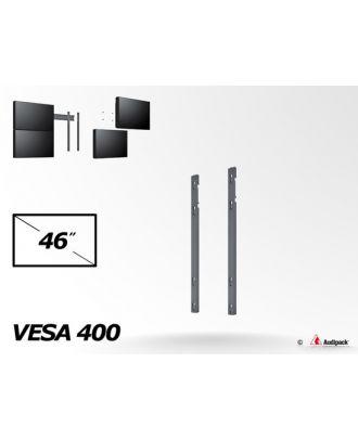 Double barre verticale VESA 200/400/600 mm pour écran 46p, portrait