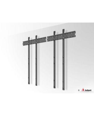 Triple barre verticale VESA 200/400 mm pour écran 46p, paysage