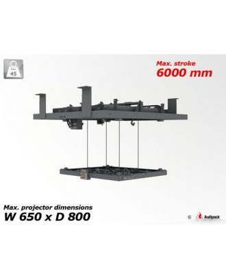 Support motorisé plafond de service, 4000 mm, max. 45 kg - PACK!