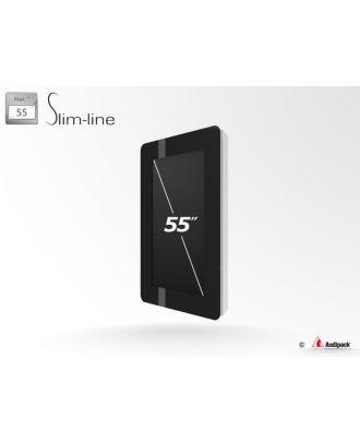 Caisson Slim-line outdoor IP55 pour écran 55p portrait Audipack FSMO-55SP