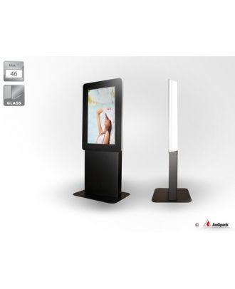 Prix à confirmer - Totem indoor pour écran 46p portrait avec verre d