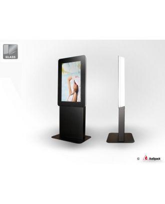Prix à confirmer - Totem indoor pour écran 65p portrait avec verre d