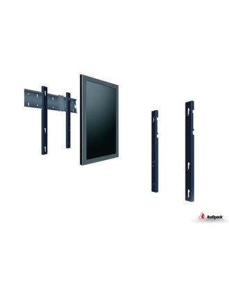 Double barre verticale VESA 400/600 mm pour simple écran 55p, paysage