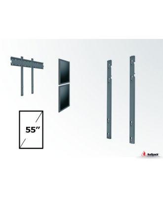 Double barre verticale VESA 200/400/600 mm pour écran 55p, portrait