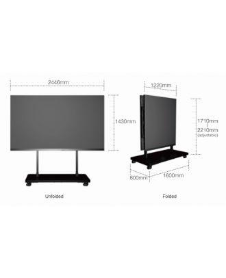 Mur mobile Wall 16/9eme FullHD Pitch 1,2mm e-boxx