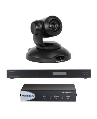 Kit EASY IP - Caméra de visio. Noire + Mixer + Switch Vaddio