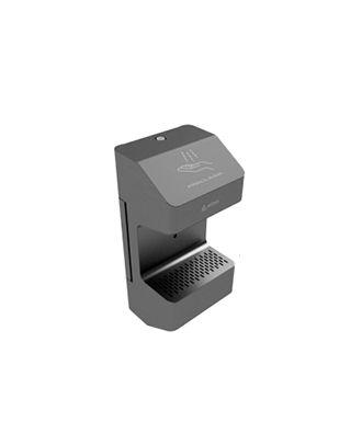 Edbak - Distributeur pour les mains fixe au mur en acier noir - Blanc