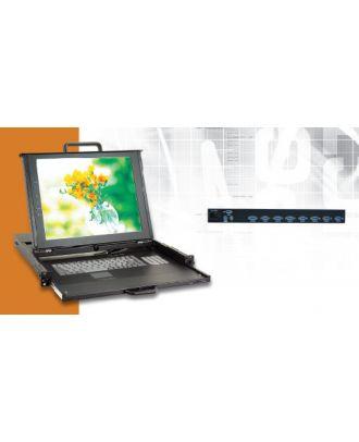 Système rack 1U LCD 17 pouces