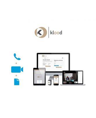 klood Salle virtuelle Illimitée - klood Pro - 1000 à 2499 p. - 1an