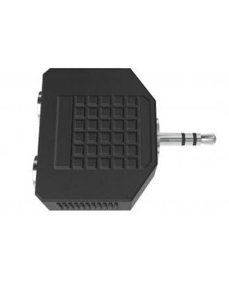 Adapt. 2 jack stereo 3,50 femelle / jack stereo 3,50 male