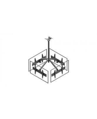 Edbak - Support plafond 4 écrans paysage en carré, 50''-57''.