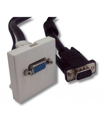 Plastron 45x45 ABS blanc HD15 Femelle/Mâle 15 m e-boxx