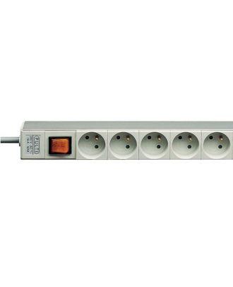 Prise d'alimentation 5 socles avec interrupteur longueur cordon 4.5 m