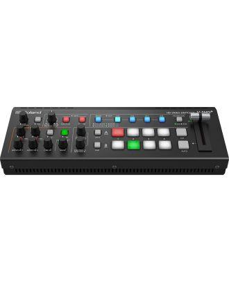 Roland - Mélangeur Vidéo 4 canaux Full HD + scaler + 2 préamplis mic.