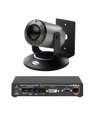 Système complet ZoomSHOT 30 Quick-connect DVI - Noir/Argent Vaddio